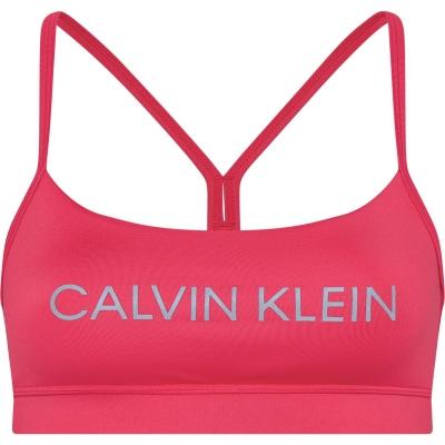 Bustiera cu logo Calvin Klein Performance Essential roz