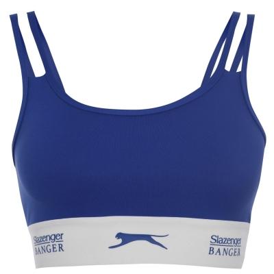 Bustiera cu logo Slazenger Banger Banger bleumarin