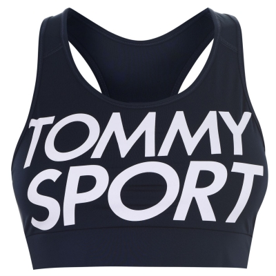 Bustiera cu logo Tommy Sport Sport bleumarin