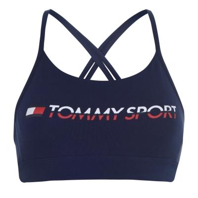 Bustiera cu logo Tommy Sport Tommy Hilfiger Sport bleumarin