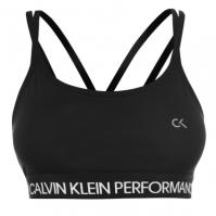 Bustiera sport Calvin Klein Performance Low Support negru alb