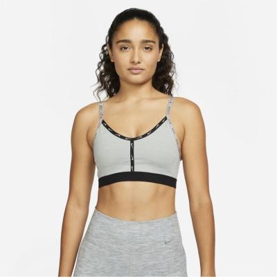 Bustiera sport Nike Indy Light-Support Logo pentru femei gri pure
