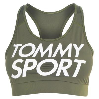 Bustiera sport Tommy Sport Logo verde