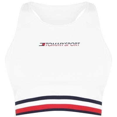Bustiera sport Tommy Sport Tommy cu dungi pvh alb