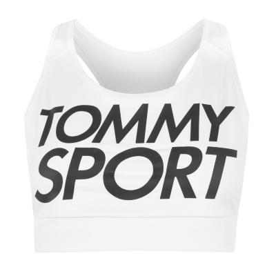 Bustiera Tommy Sport Tommy Hilfiger pvh alb
