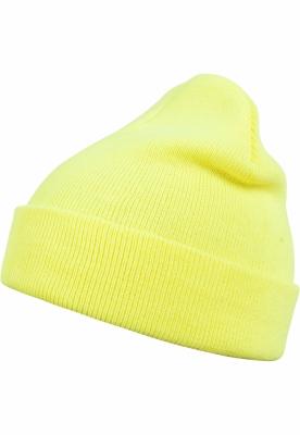 Caciula Beanie Basic Flap galben-neon MasterDis