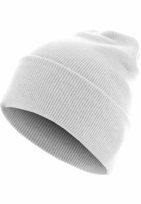 Caciula Beanie Basic Flap Long Version alb MasterDis