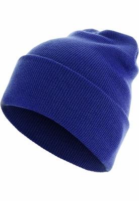 Caciula Beanie Basic Flap Long Version albastru-roial MasterDis