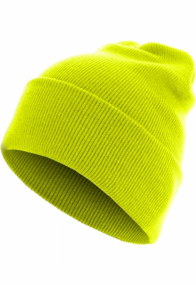 Caciula Beanie Basic Flap Long Version galben-neon MasterDis