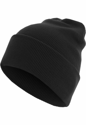 Caciula Beanie Basic Flap Long Version negru MasterDis