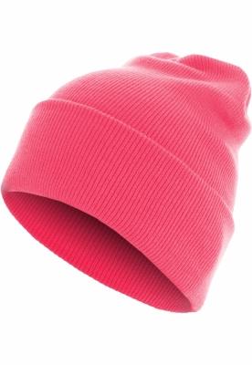 Caciula Beanie Basic Flap Long Version roz-neon MasterDis
