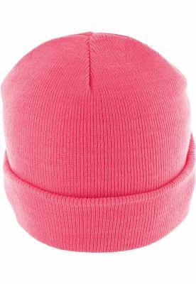 Caciula Beanie Basic Flap roz-neon MasterDis