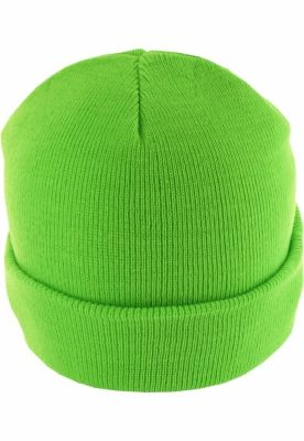 Caciula Beanie Basic Flap verde-neon MasterDis