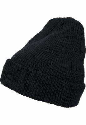 Caciula Beanie Long tricot negru Flexfit
