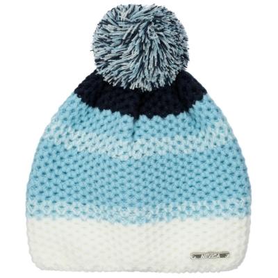 Caciula Beanie Nevica alb albastru