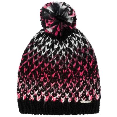 Caciula Beanie Nevica Davos pentru femei negru roz
