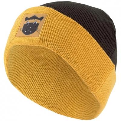 Caciula Beanie Puma Animal clasic Cuff galben-negru 23456 01 pentru Copii