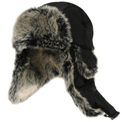 Caciula care acopera urechile Firetrap pentru Barbati negru