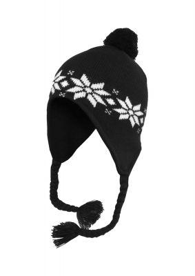 Caciula iarna cu model norvegian 1 negru-alb Urban Classics
