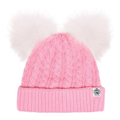 Caciula Requisite Pom-Pom pentru fetite roz