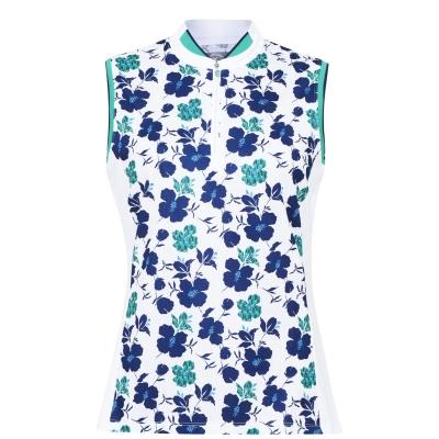 Callaway Print Floral Vest brilliant alb