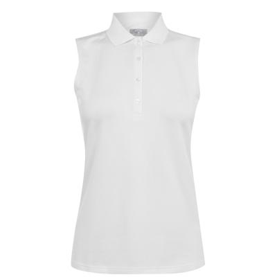 Tricouri Polo Callaway fara maneci tricot pentru Femei alb