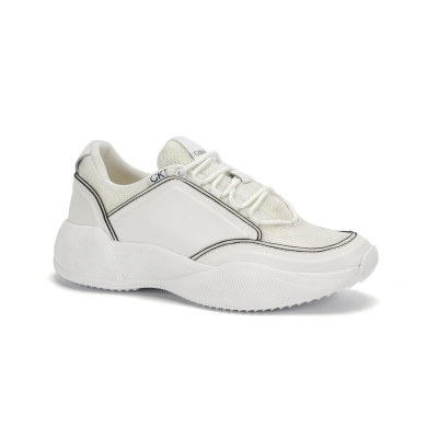 Adidasi sport Calvin Klein Bradie Low Top alb