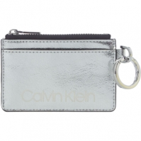 Calvin Klein Coin pouch card holder key fob argintiu