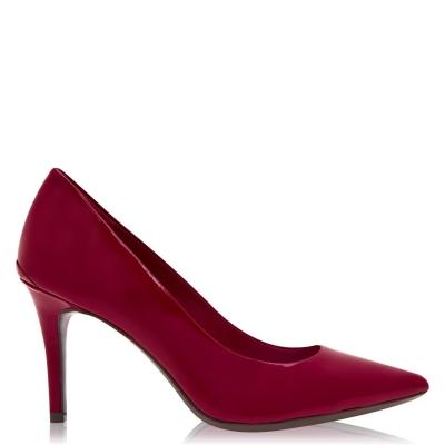 Calvin Klein Gazel Pump Patent din piele Heels rosu rock