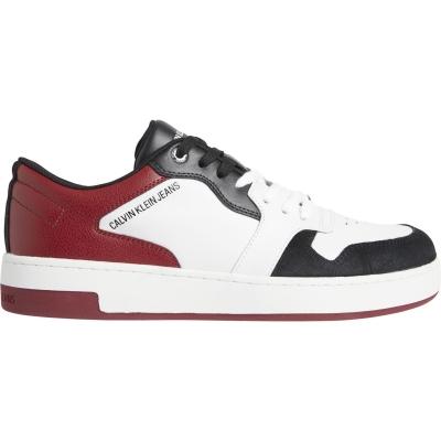 Adidasi sport Calvin Klein Jeans baschet Lace alb rosu