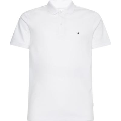 Calvin Klein Liquid Touch Slim Polo bright alb