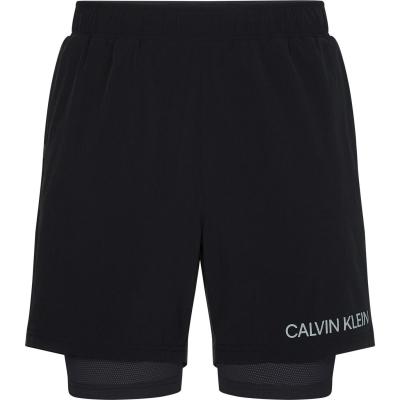 Pantaloni scurti Calvin Klein Performance 2in1 sala negru