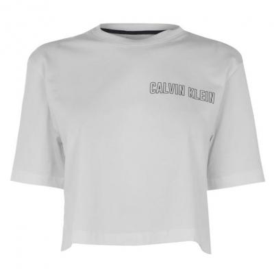Tricouri Calvin Klein Performance Cropped alb