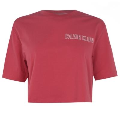Tricouri Calvin Klein Performance Cropped visiniu rosu