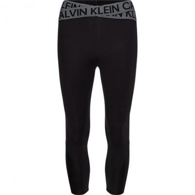 Calvin Klein Performance CKP Tape Capri Leg Ld14 negru alb