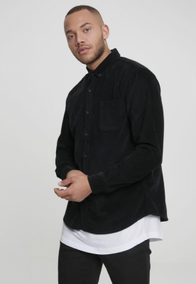 Camasa Corduroy negru Urban Classics