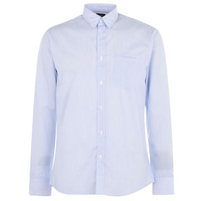 Camasa cu Maneca Lunga Pierre Cardin pentru Barbati albastru alb dungi
