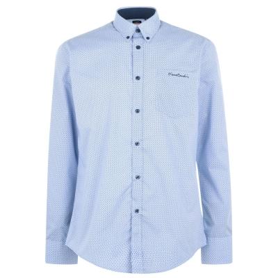 Camasi cu maneca lunga Pierre Cardin pentru Barbati albastru bleumarin negru