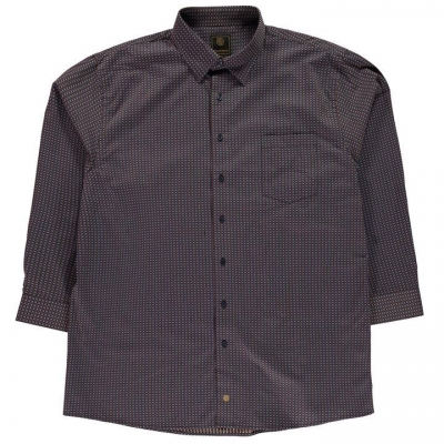 Fusion Geo Shirt pentru Barbati maro