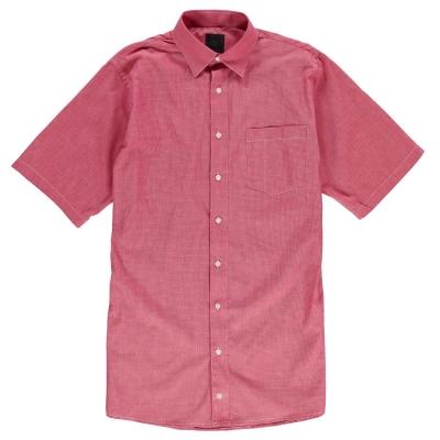 Camasa in carouri Fusion Micro pentru Barbati rosu