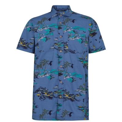Camasa maneca scurta ONeill Tropical albastru galben