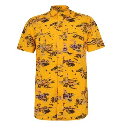 Camasa maneca scurta ONeill Tropical galben maro