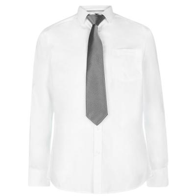 Set camasa si cravata Pierre Cardin pentru Barbati alb bleumarin plain