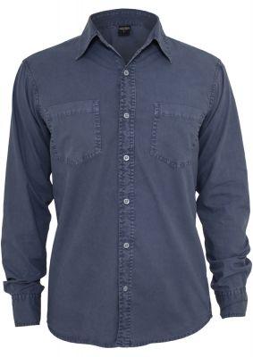 Camasi barbati fashion albastru denim Urban Classics