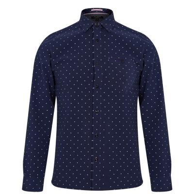 Ted Baker Ted Baker Polka Dot Shirt bleumarin