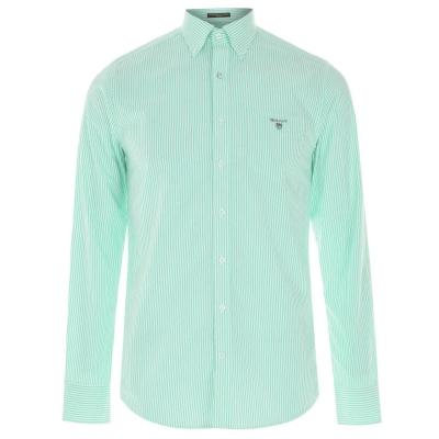 Camasi cu dungi Gant Gant cu Maneca Lunga Pop verde