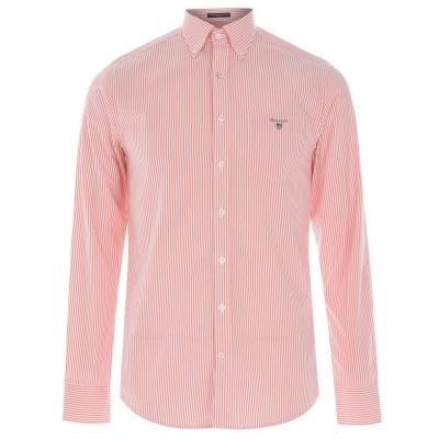 Camasi cu dungi Gant Gant cu Maneca Lunga Pop roz