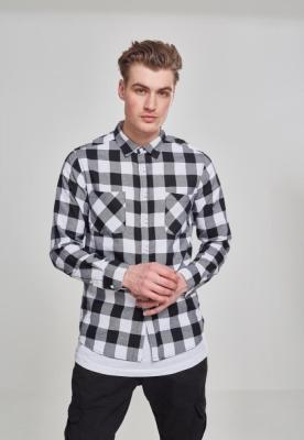 Camasi in carouri barbati negru-alb Urban Classics