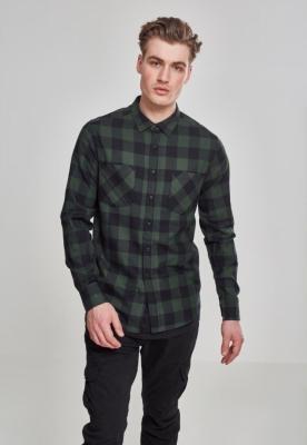 Camasi in carouri barbati negru-verde Urban Classics