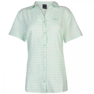 Jack Wolfskin Kepler Shirt pentru Femei pale menta patratele